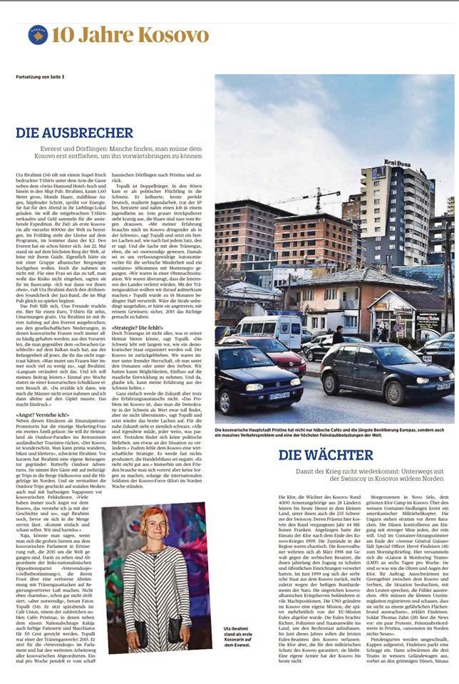 "Uta Ibrahimi on ""Schweiz am Wochenende Magazine"