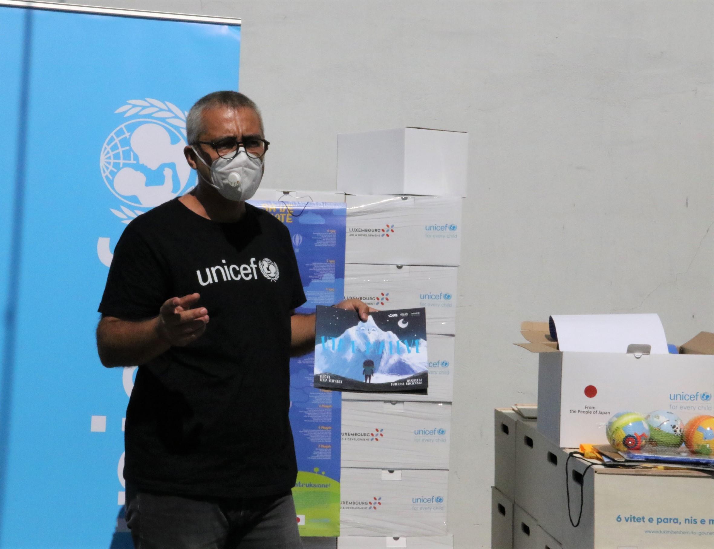 UNICEF's Head of Office in Kosovo, Murat Sahin